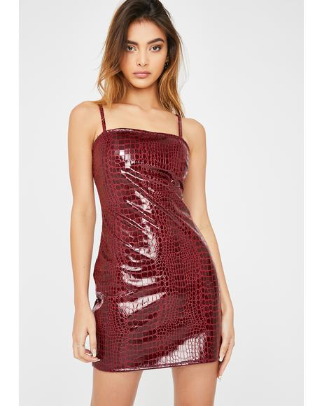 Wine Burmay Mini Dress