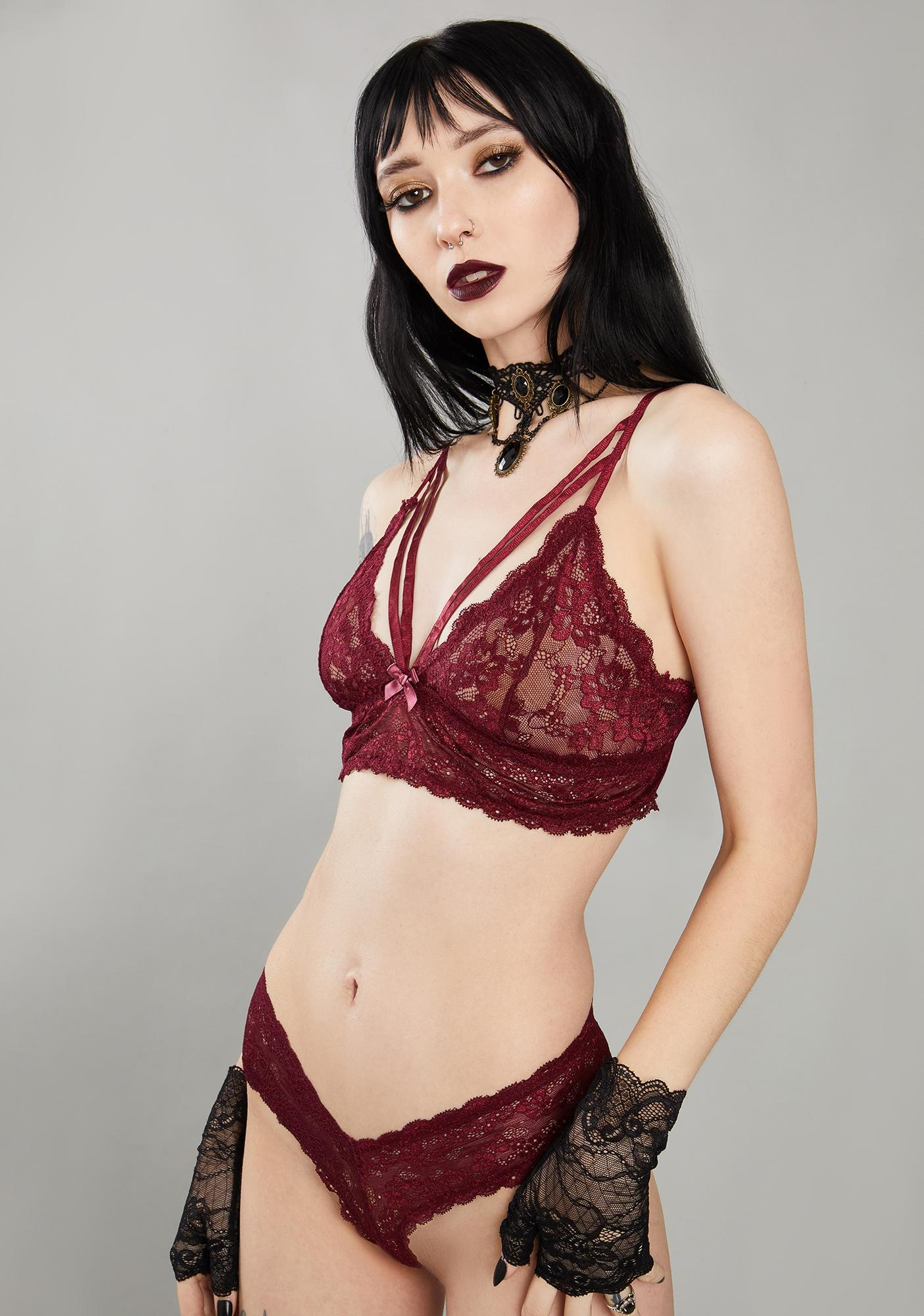Widow Wine Kiss Of Midnight Lace Bra