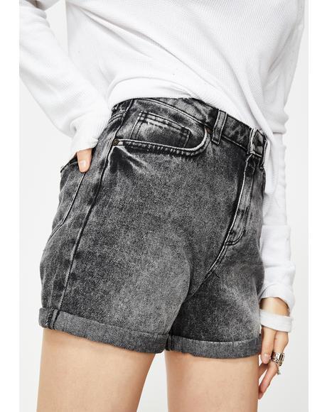 Live Straight Denim Shorts
