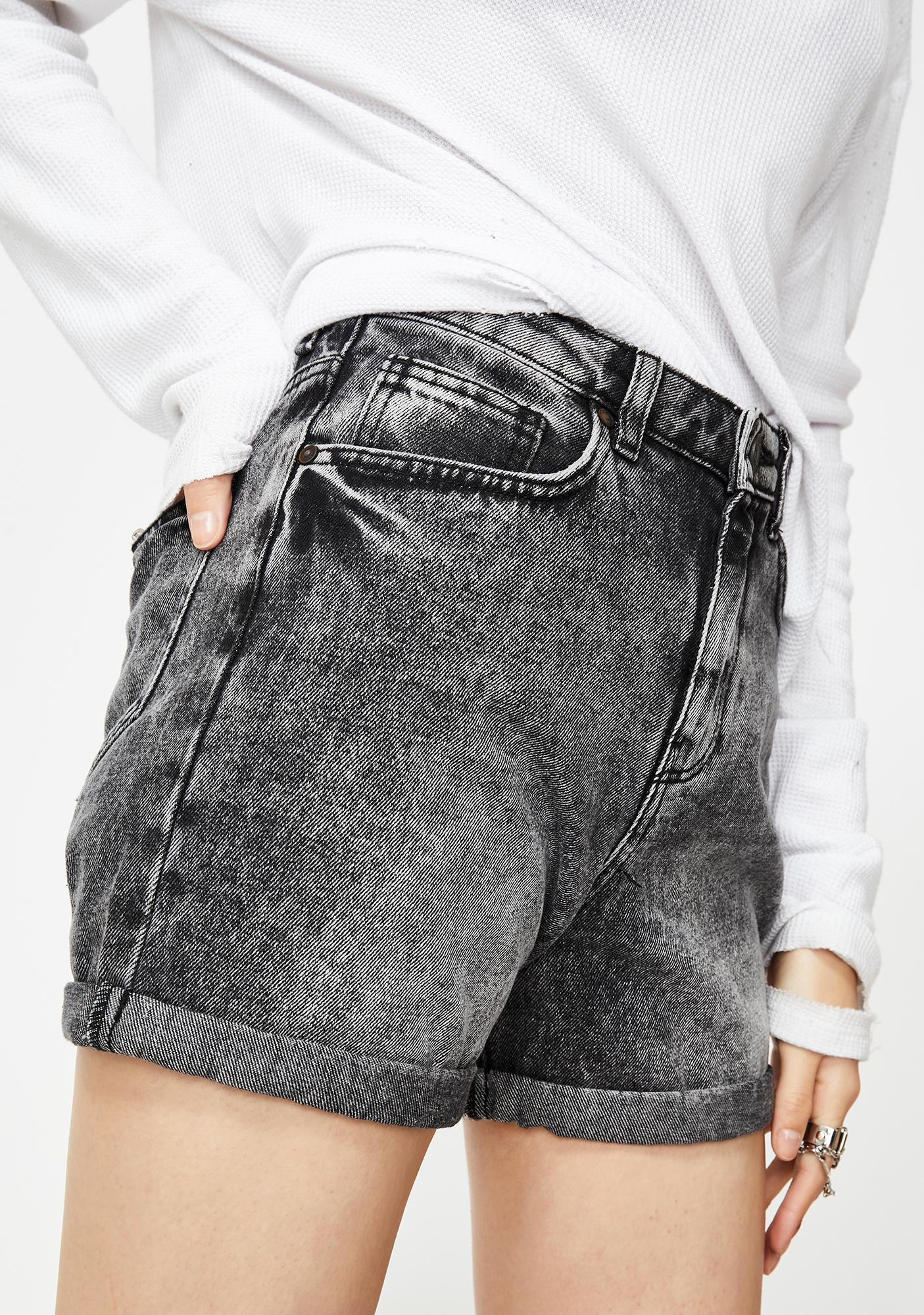 Noisy May Live Straight Denim Shorts