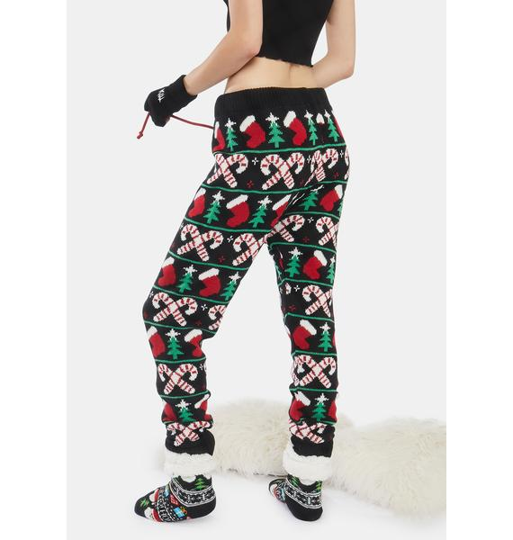 American Stitch Candy Cane Christmas Tree Holiday Pants