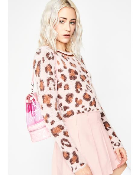 Catty Crush Fuzzy Sweater