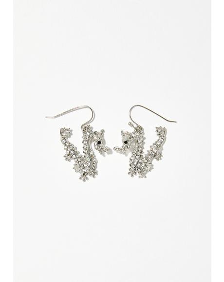 Fiyah Breathin' Rhinestone Earrings