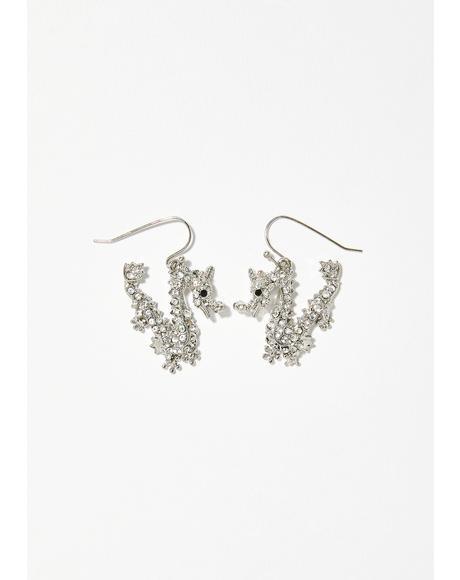 Fiyah Breathin' Rhinestone Earrings