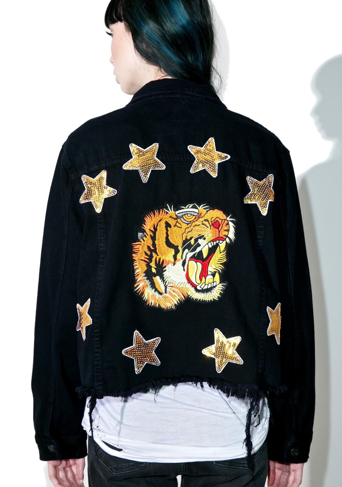 Taiga Embroidered Denim Jacket