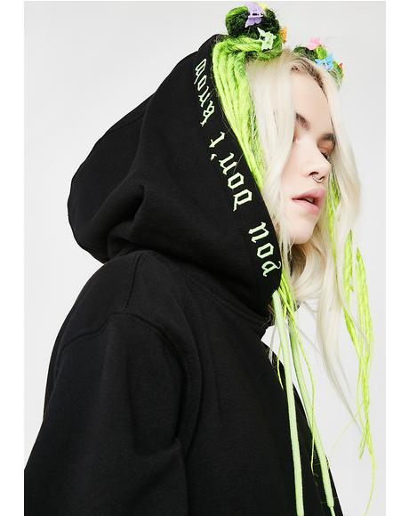 No Judgement Embroidered Hoodie