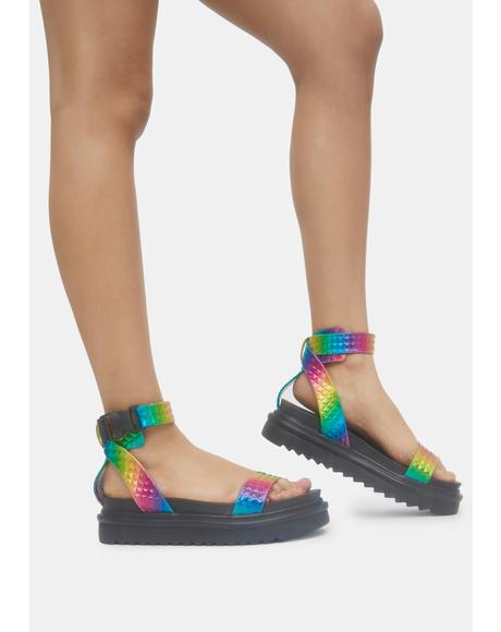 Rainbow Kassandra Gladiator Sandals