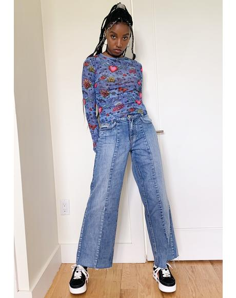 Go The Distance Wide Leg Jeans