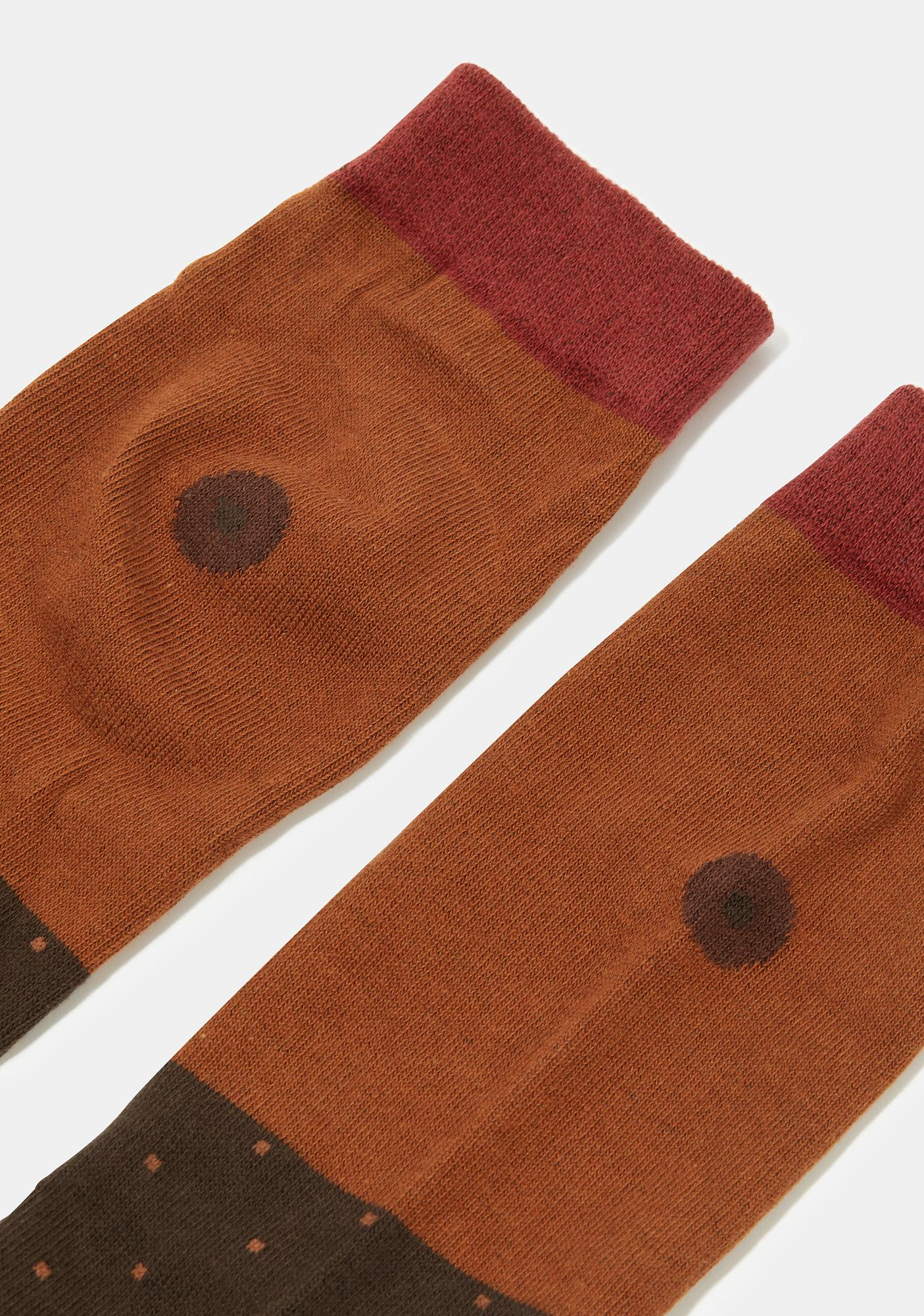 Umber Girl Power Crew Socks