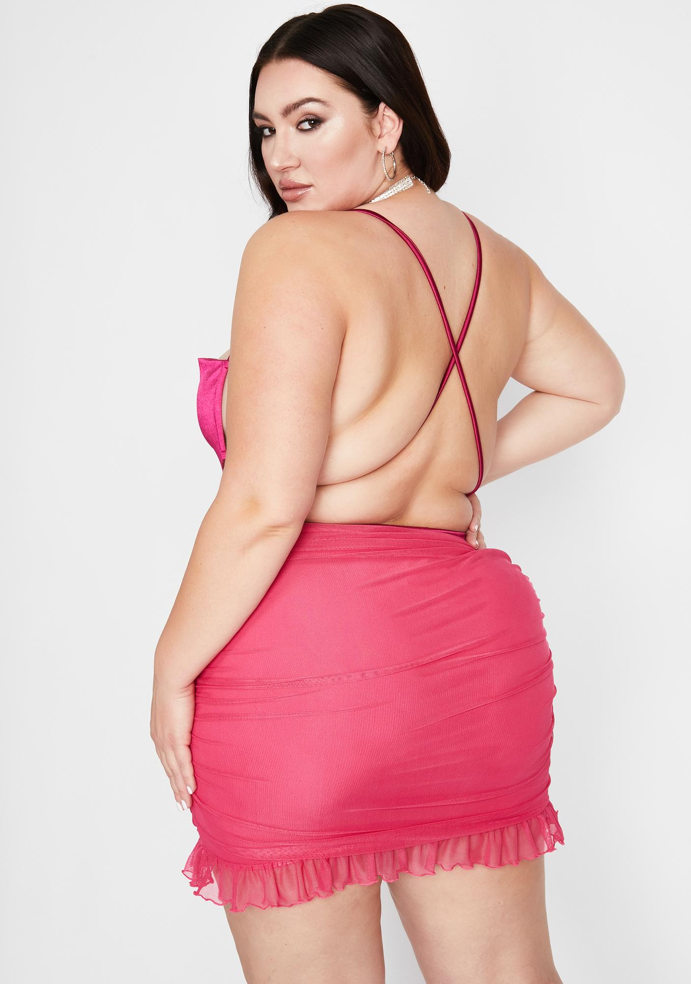 Got Tangled Desires Lace-Up Bodysuit