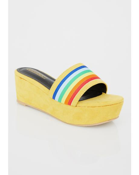Rainbow High Suede Platforms