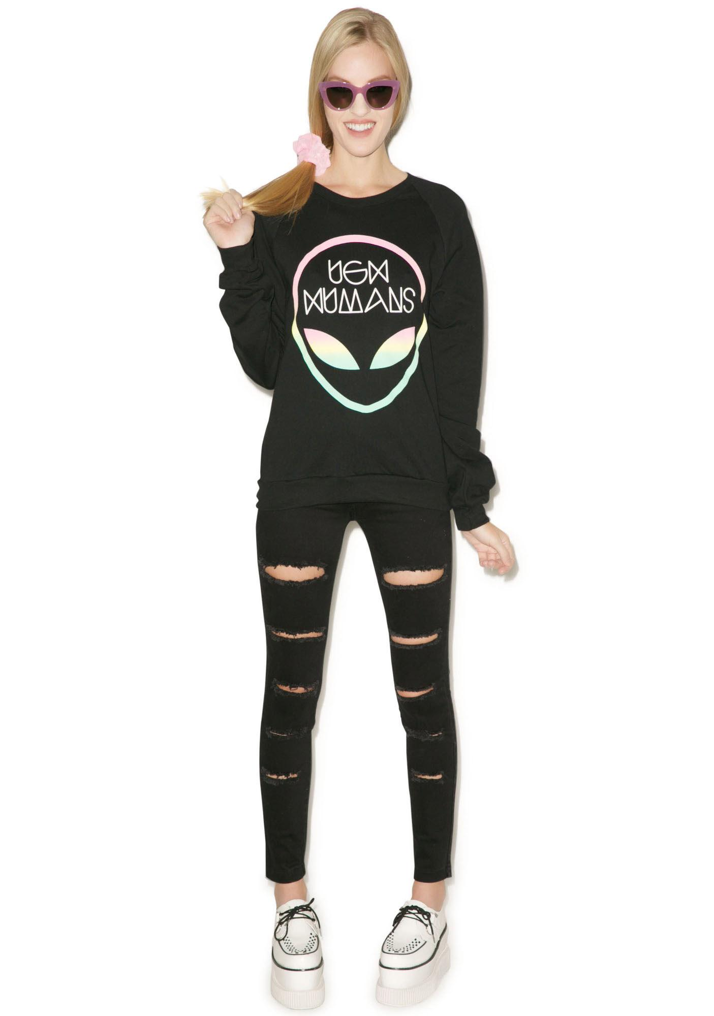 MeYouVersusLife Ugh Humans Crew Neck Sweater