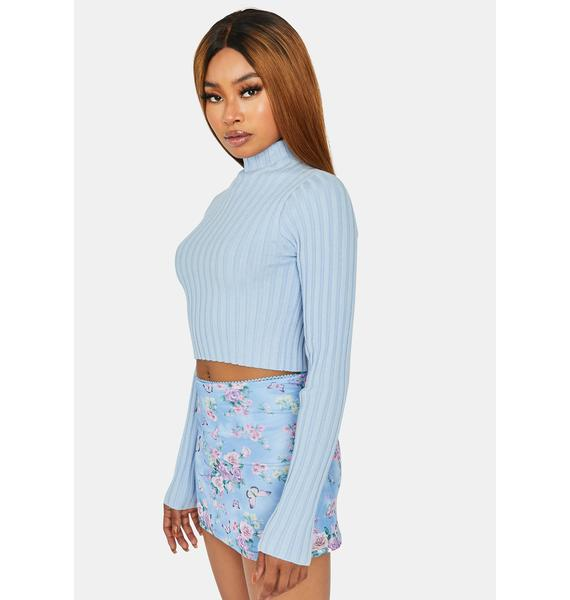 Bringing The Vibes Mock Neck Sweater