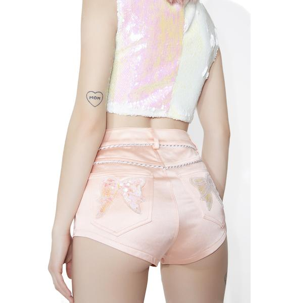 Sugar Thrillz Von Schweetz Satin Booty Shorts