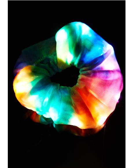 Velvet Rainbow Light-Up Scrunchie