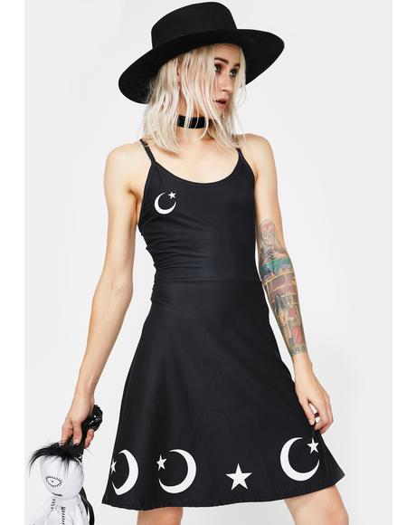 Moons N' Stars Skater Dress