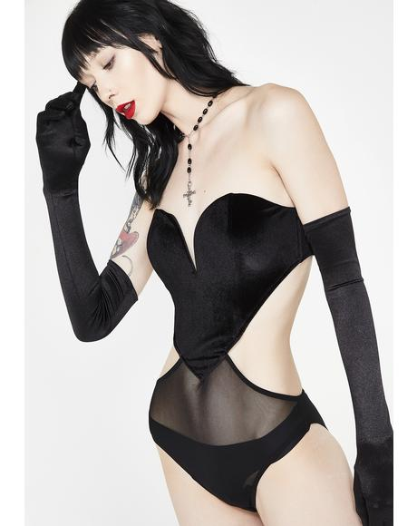 Wicked Meltin' Hearts Velvet Bodysuit