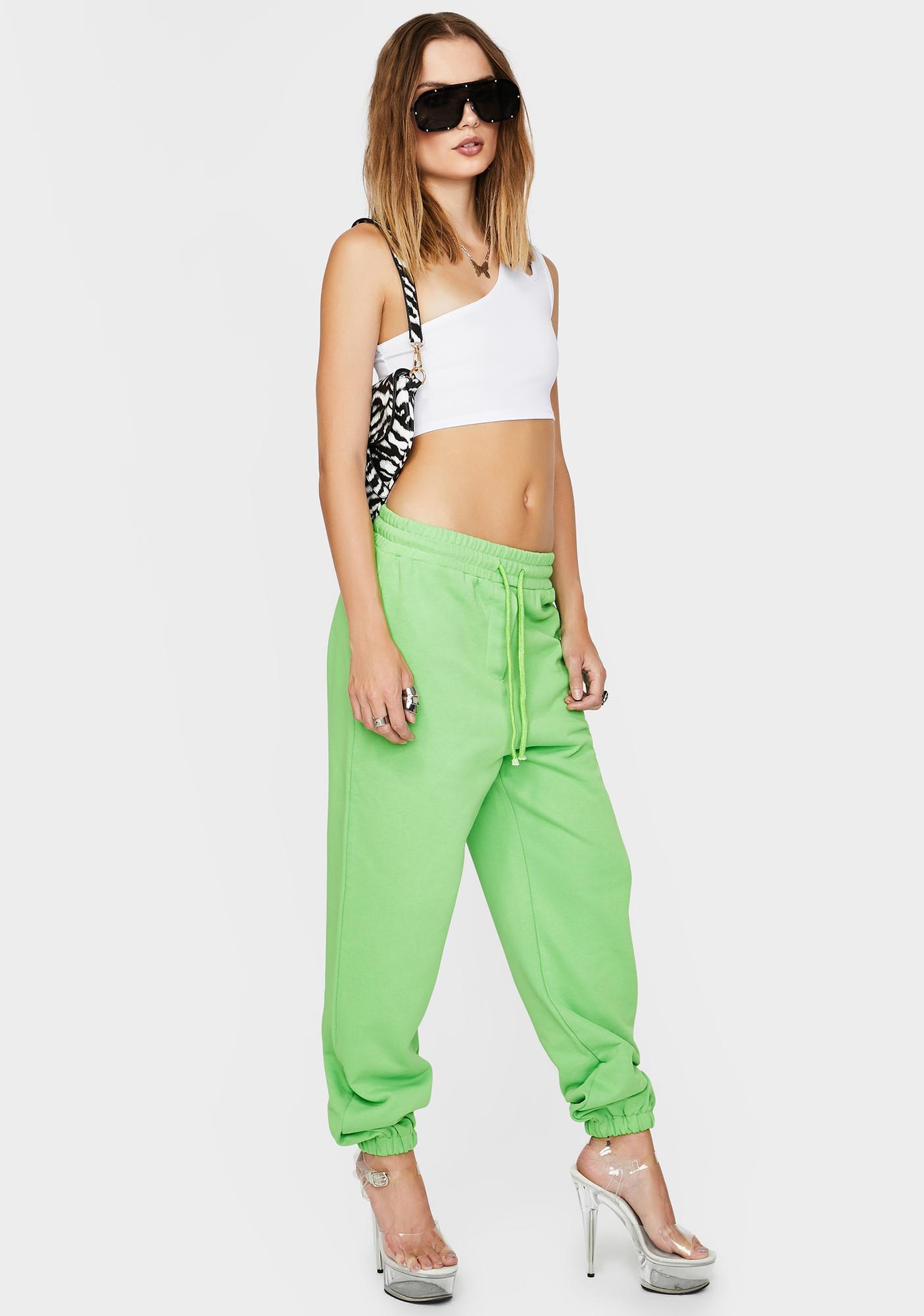 THE KRIPT Green Ava Track Pants
