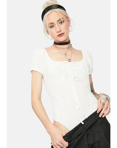 Okay Miss Thing Eyelet Lace Bodysuit