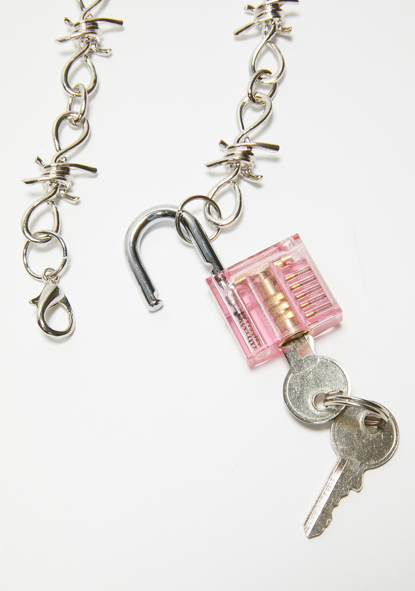 Sugar No Restraint Padlock Necklace