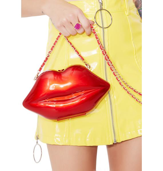 Sealed Lips Crossbody Bag