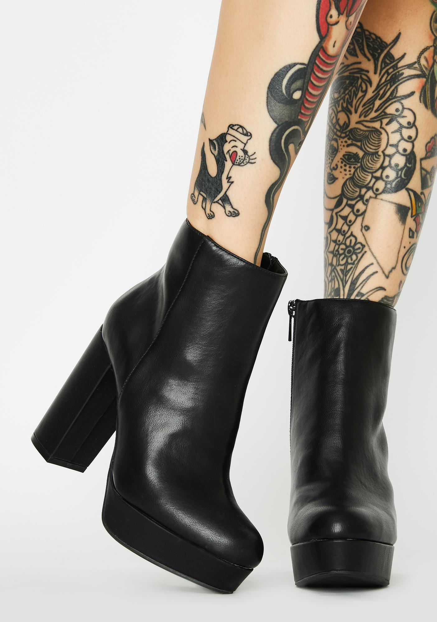 Minor Threat Heeled Booties