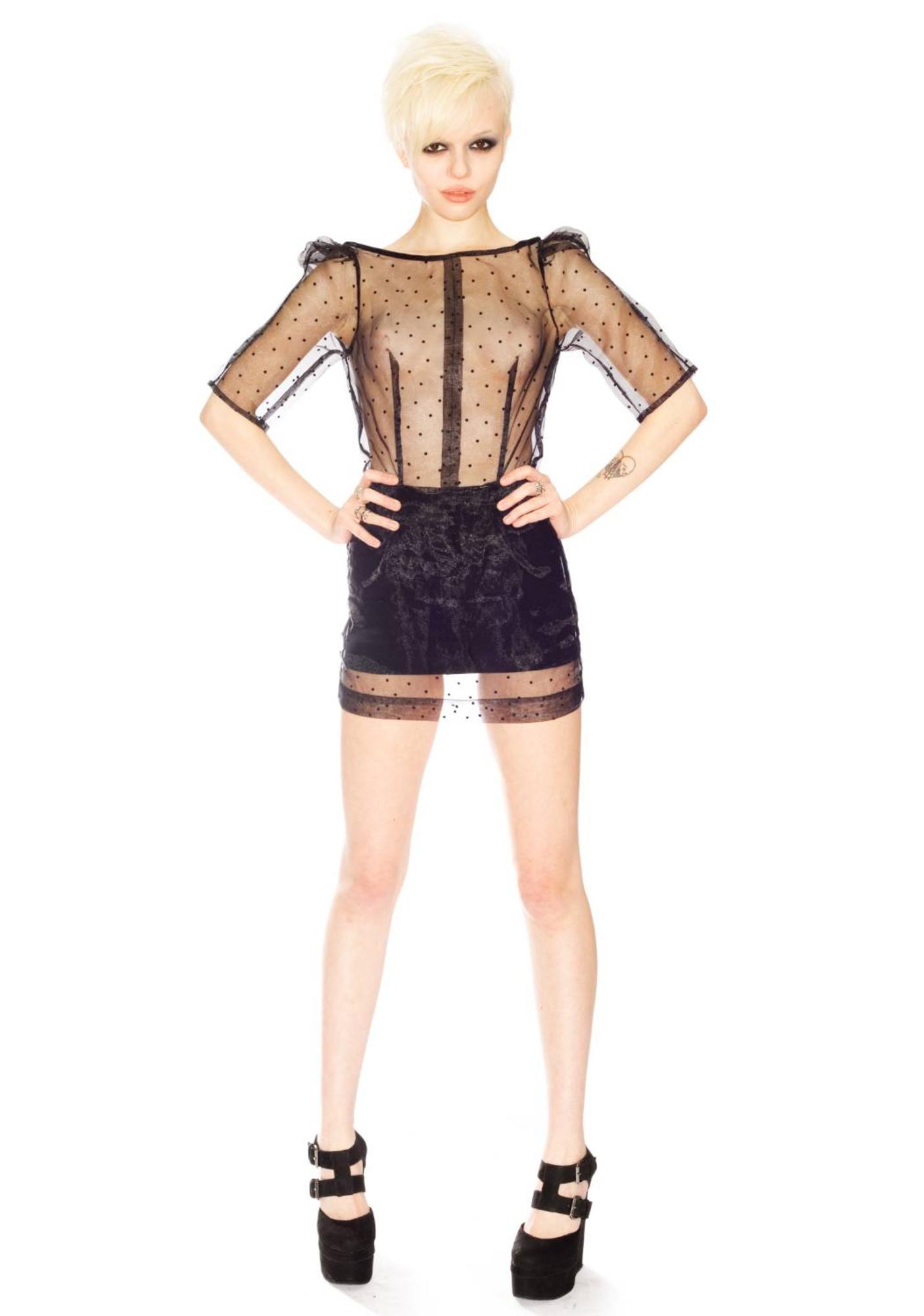 Sheer Organza Dress