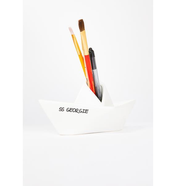 You'll Float Too Ceramic Pencil Holder