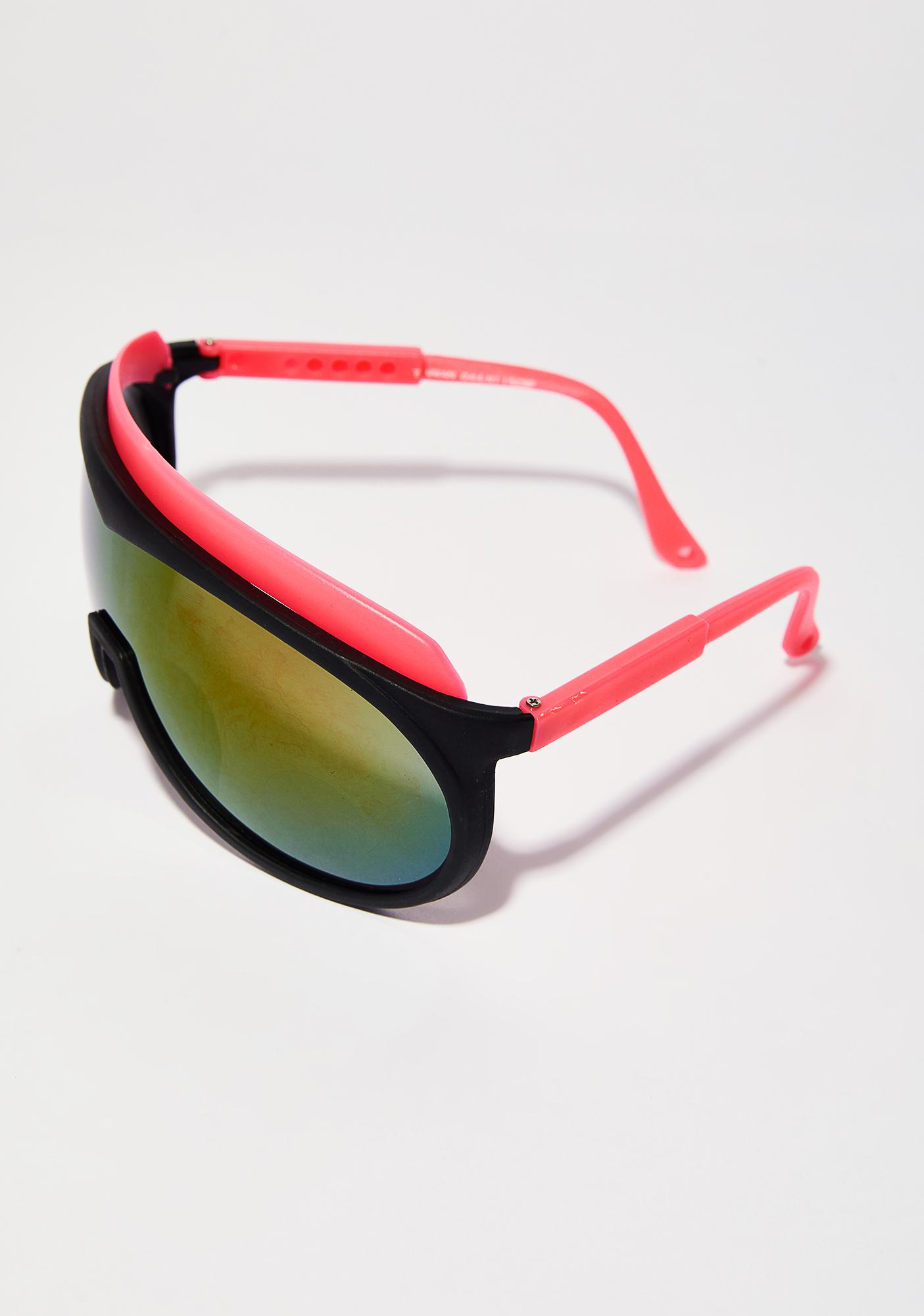 Coral Under The Shade Shield Sunglasses
