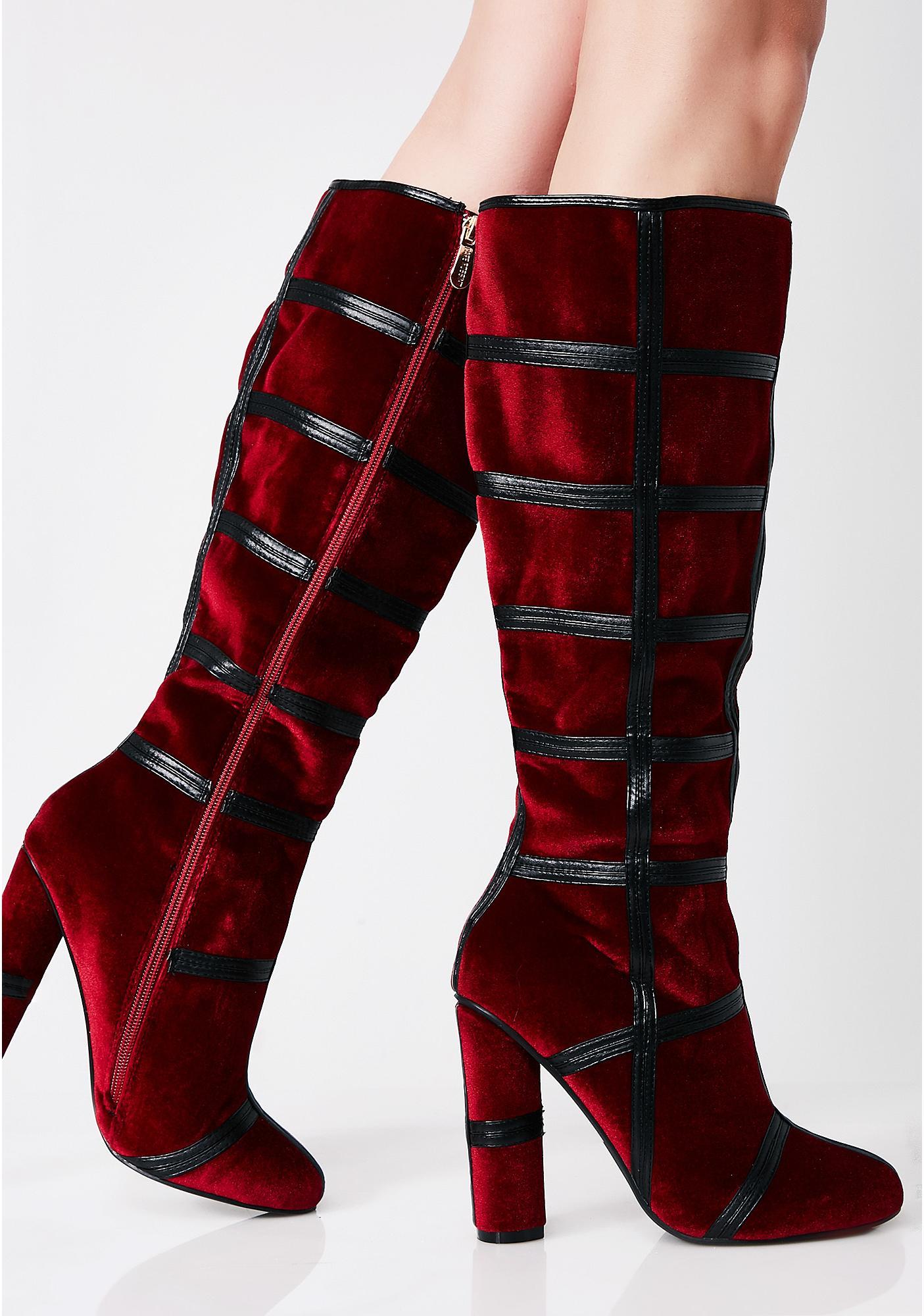 Venom Potion Knee High Boots