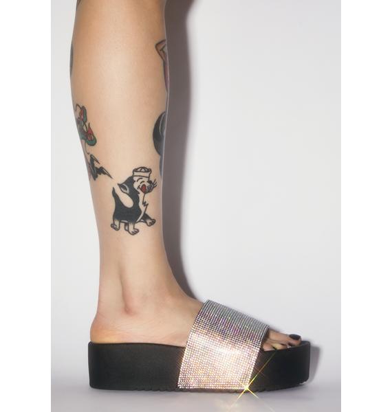 Dark Bling 'Em Out Slide Sandals