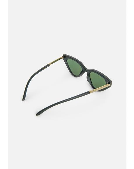 Black Zuma Cat-Eye Sunglasses