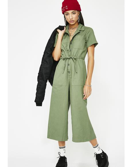 Riot Babe Cropped Jumpsuit