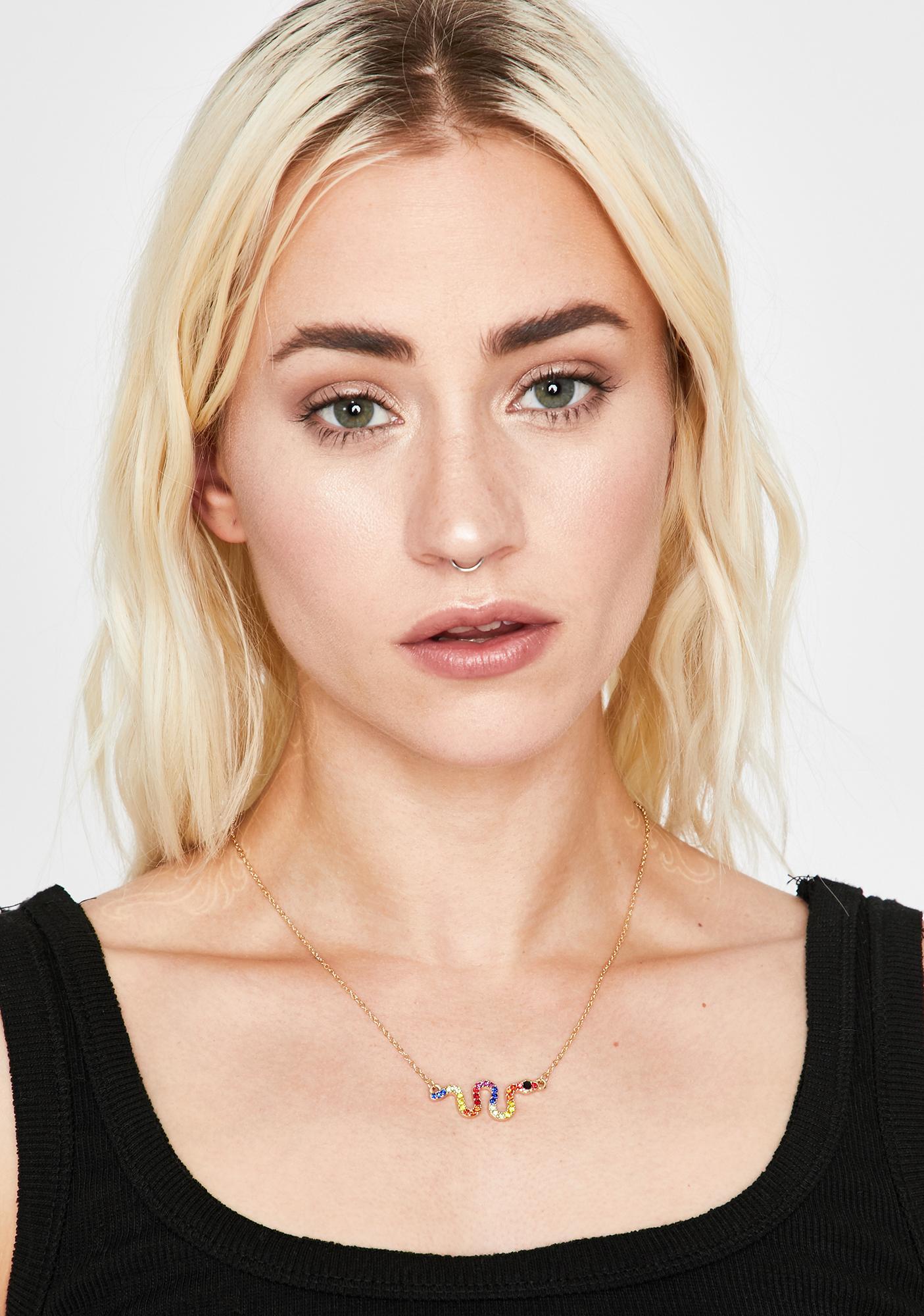 Golden Prism Icon Snake Necklace