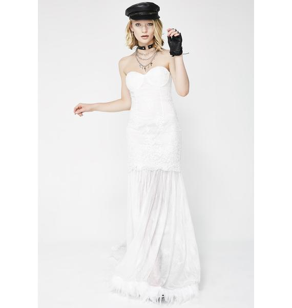 No One's Babe Feather Gown