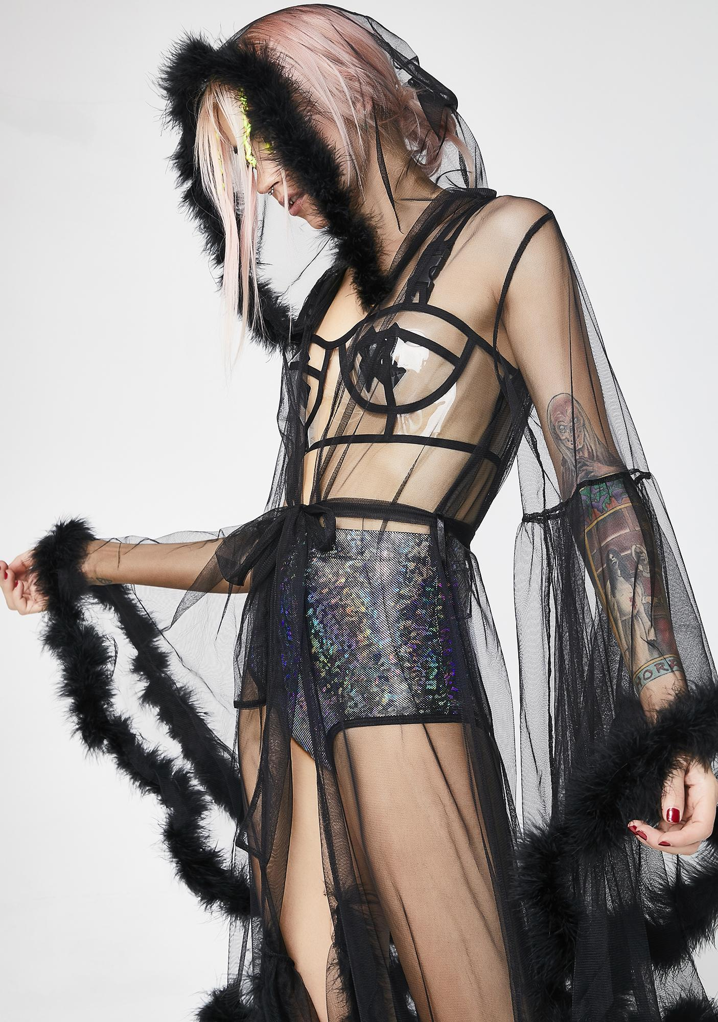 Club Exx Lady Luxxx Feather Robe