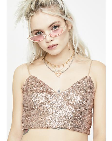 Champagne Fun Nights Sequin Top