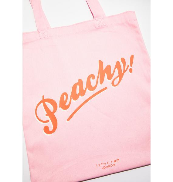 Skinnydip Peachy Tote Bag