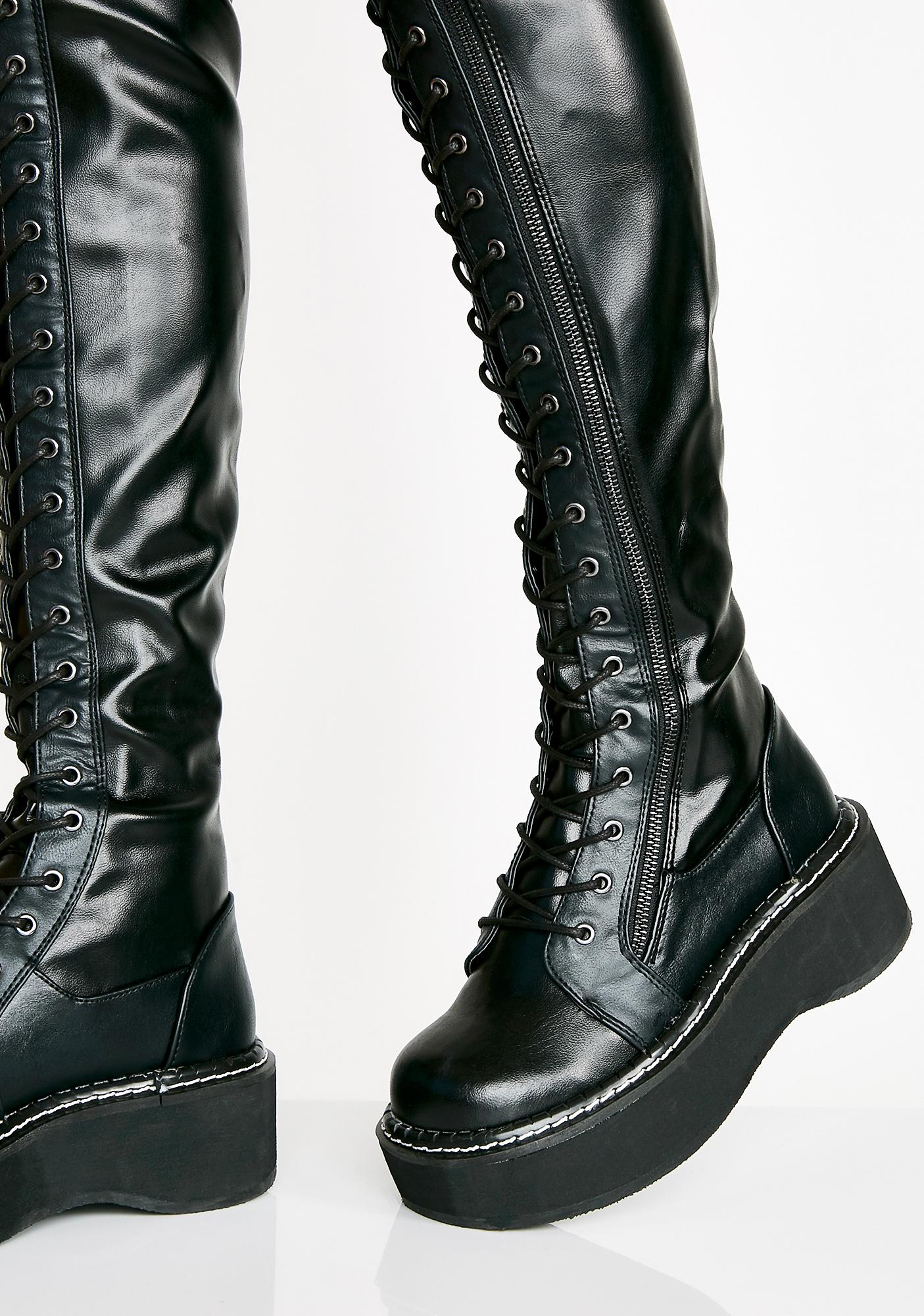Demonia Hellraiser Lace-Up Boots