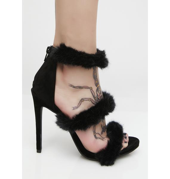 Dark Fuzz Luv Heels