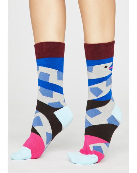 Hiss Off Snake Socks