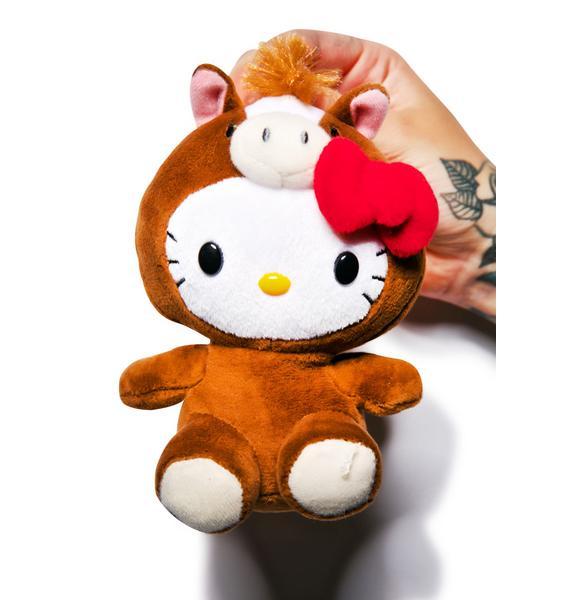 Sanrio Farm Friends Hello Kitty Horse Plush