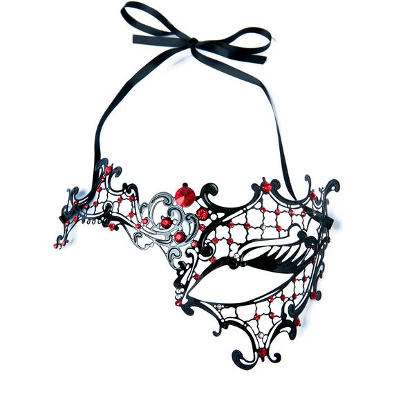 Ruby Masquerade Mask