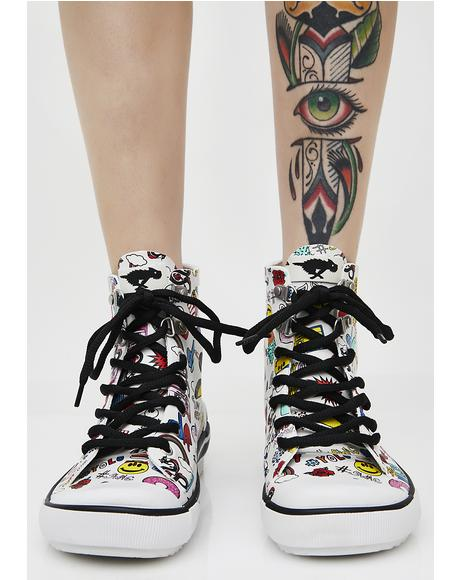 Rainy Multi Swag Sneaker Rain Boots