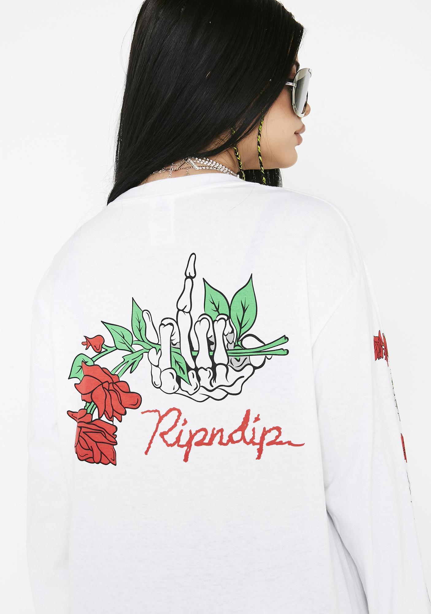 RIPNDIP Dead Rose Long Sleeve Top