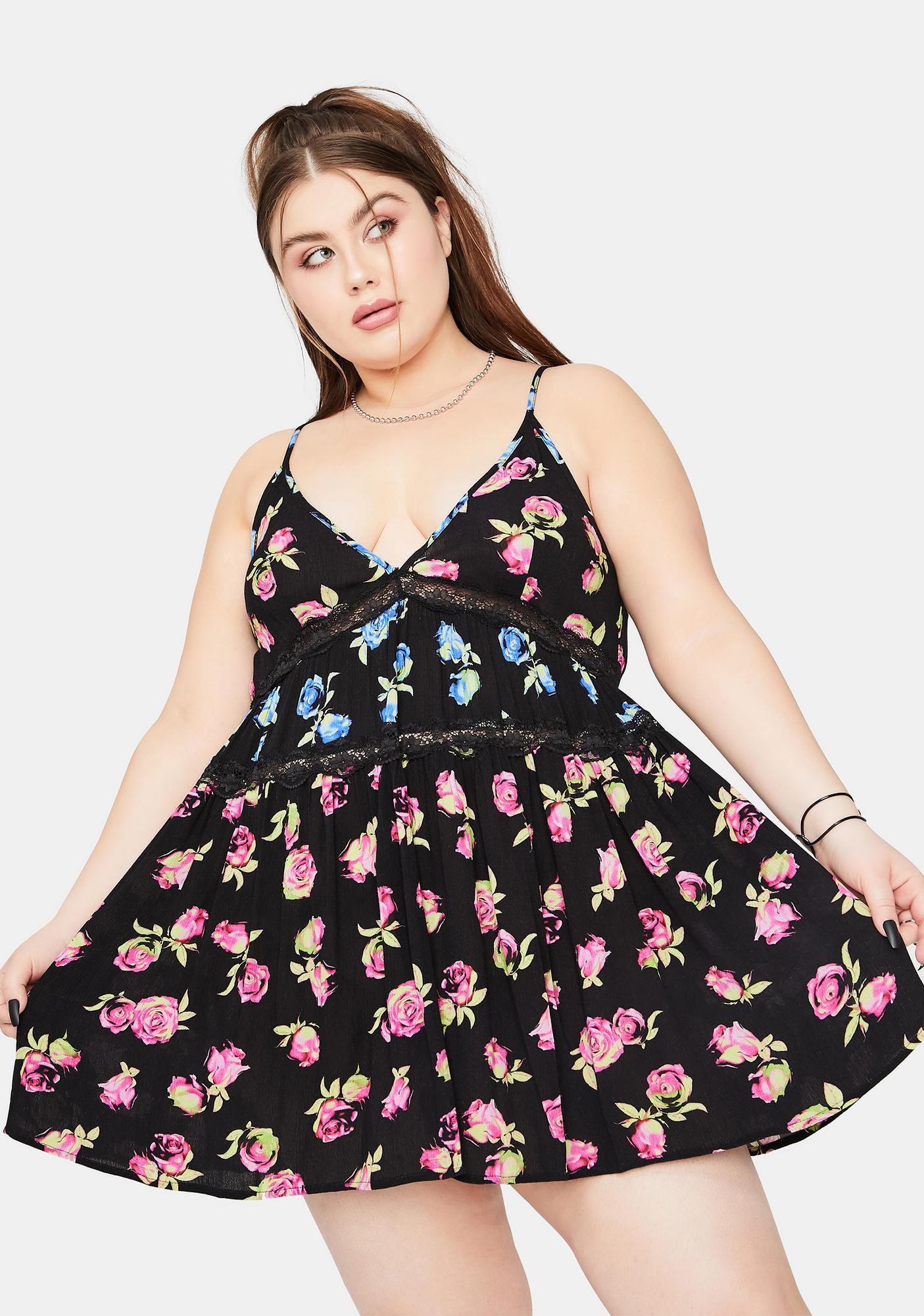 dELiA*s by Dolls Kill She's Lost In Yesterday Floral Mini Dress