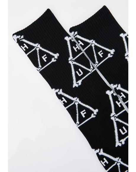 Boner Triangle Crew Socks
