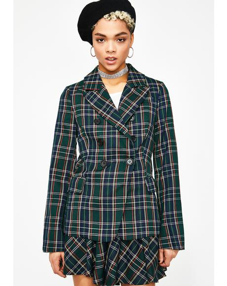 Designer Dollz Plaid Blazer