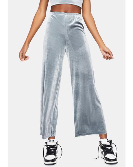 Make It Clear Velvet Wide Leg Pants