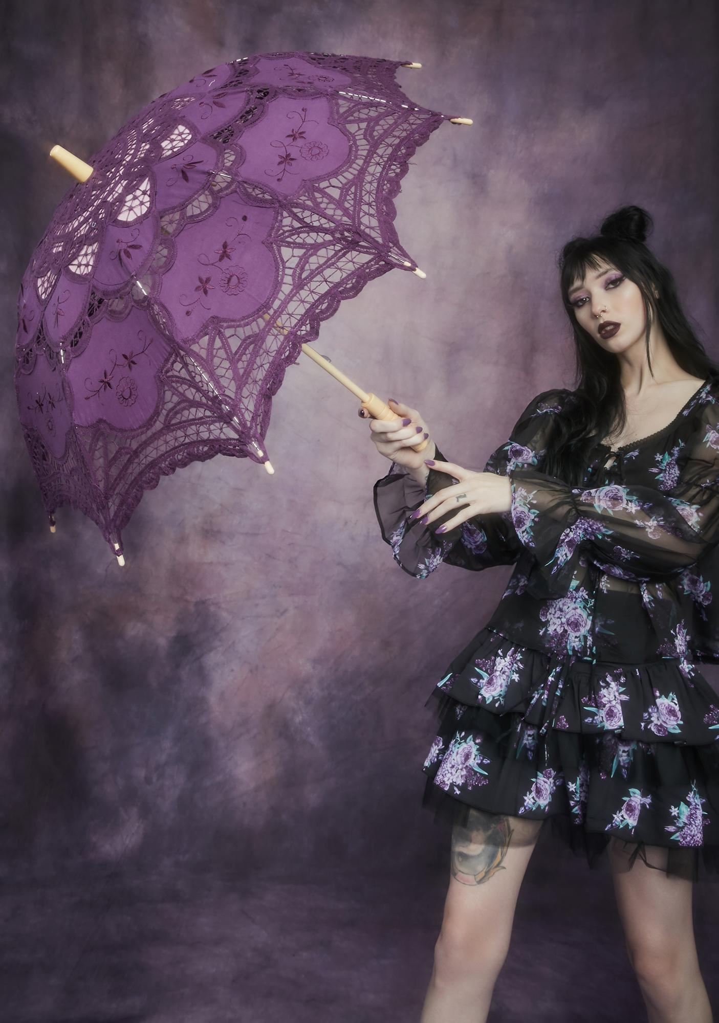 Gem Waltz After Midnight Lace Parasol